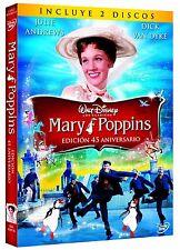 Mary Poppins 2 DVD Especial 45 Aniv. en Castellano NUEVO Popins Disney Español