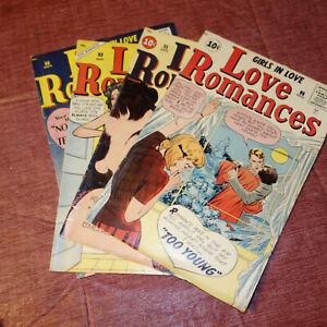 4 GIRLS IN LOVE Love Romances #90, #92, #94 & #96 1960-1961 (kf)