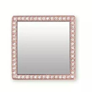 Rose Gold Cell Phone Mirror Bling Peel Stick Embellish Customize iDecoz Decorate