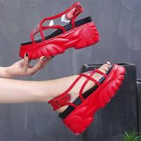 Womens Punk Transparent Sport Sandals High Platform Casual Beach Shoes Open Toe