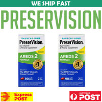 2 x Bausch + Lomb PreserVision AREDS 2 Formula 90 Soft Gels Vision AU STOCK