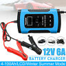 Chargeur de Batterie Voiture impulsion Réparation Smart 12V 6A pour Auto Moto EU