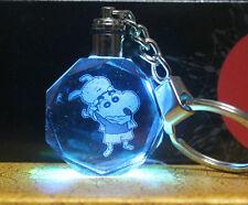 Crayon Shin-chan colorful LED crystal keychain beauty shine key chain new