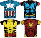 Choose CAPTAIN AMERICA THOR IRON MAN WOLVERINE costume t-shirt S-M-L-XL-2XL XXL