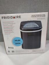 Frigidaire Efic117-Ssblack 26lbs Portable Compact Ice Maker, Stainless Steel