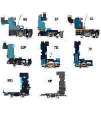 Dock de Carga Para iPhone 6 6S 7 8 Plus Flex Placa Conector USB Micrófono Jack