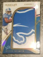2020 Panini Immaculate Rookie RC Helmets Lions Logo Patch D'Andre Swift /23