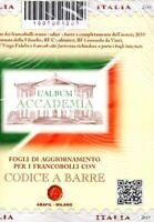 Accademia fogli Abafil per Italia Repubblica codice a barre 2019