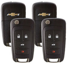 2 New Entry Remote Flip Keys For Chevrolet and GM Vehicles 4-button