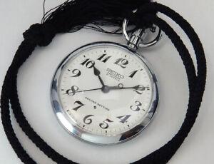 Serviced Seiko Precision Japan Railway 1973 Vintage Hand-Winding Pocket Watch