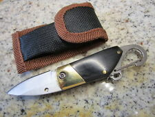 BRASS STEEL Folding Pocket Knife Outdoor Camping Keychain Survival Tool GIFT