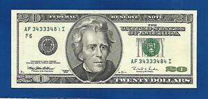 1996 CH/CU $ 20 PARTIALLY MISSING DIGIT ERROR NOTE