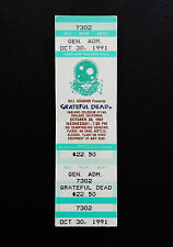 Grateful Dead Ticket Space Your Face Oakland 10/30/1991 Ca Full Ticket Not Stub