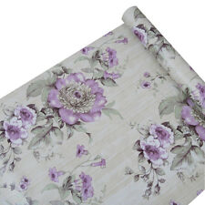 Self Adhesive Flower Contact Paper Shelf Liner Vintage Wallpaper Roll Decor