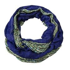 Collection Eighteen Scarf Open Weave Metallic Royal Blue Cream Infinity New NWT