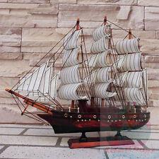 Handmade WOOD MODEL (33cm Length) Sailing Boat Corsair Tall Ship Sailer Cruiser