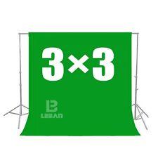 Green Screen Chroma key 3 x 3M Background Backdrop for Studio Photo lighting