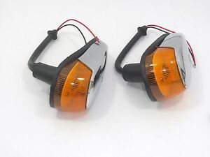VW Beetle TURN SIGNAL ASSEMBLY AMBER LENS VOLKSWAGEN TYPE1 BUG 1964-1969 2pcs