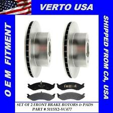 Front Brake Rotors & Ceramic Pads Fit Jeep Cherokee , Comanche, Grand Cherokee