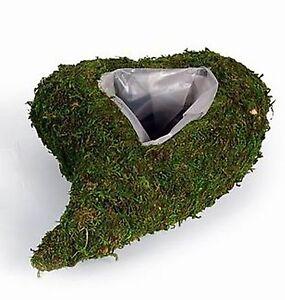 Moosherz 2 Stück 19 cm oder 26 cm Pflanzherz Pflanzschale Moos Herz grün