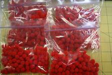 """1/4"""" Red Acrylic Pom Poms"""