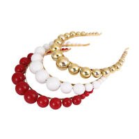 Elegant Women's Headband Pearl Crystal Hairband Wedding Hair Hoop Accessories