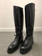 Para hombre alto a caballo de la Motocicleta Carretera Policía patrulla bota de cuero de motorista UK 5-12