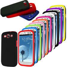 For Samsung Galaxy S3 i9300 Silicone + Stylish Skin Hard Back Case Cover UK