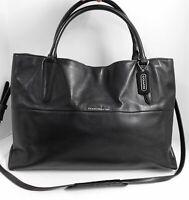Coach 32290 Borough Black Leather Large Tote Crossbody Bag