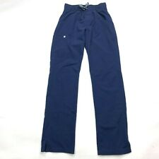 Figs Technical Collection Kade Cargo Scrub Pant Navy Blue Pocket Women Xs
