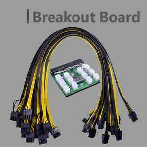 Breakout Board inkl.12x Kabel HP Server Netzteile DPS-1200FB HP 441830-001 1600W