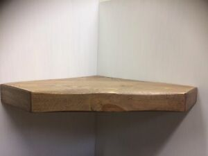 Wooden Rough Saw Solid Floating Vintage HANDMADE CORNER SHELF