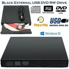 Slim Portable Ultra USB 2.0 External DVD-RW CD-RW Burner Writer Drive For MAC PC
