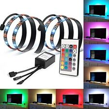 LED Home Theater TV BackLight Accent Back Lighting Kit Bias Multi-Color Strip 07