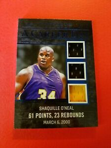 SHAQ SHAQUILLE O'NEAL GAME USED JERSEY CARD #d21/25 LEAF 2020 ITG LAKERS CAREER