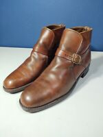 Vintage Breather Wright Arch Preserver Beatles Boots Brown Leather Men's Size 9C
