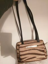 SONIA RYKIEL Vintage Brown Zebra Print Calf Leather shoulder bag