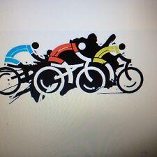 Biking Racers Car Window Stickers