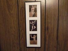 framed vintage 3 pin up girl arcade cards 30s 40s bikinis 3x5 cards 18x6 frame