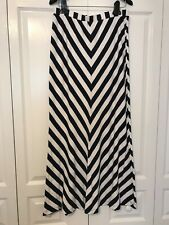 Ann Taylor Maxi Skirt, Navy and White, Size 8, Stretch