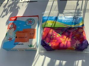 SPEEDO ARMBANDS 0-2 YEARS AND ZOGGS SWIM NAPPY 6-9 MONTHS NEW