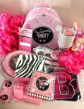 Girls Night Out Bachlorette Party Supply  Favors Pink Zebra Pin Banner Wedding