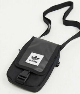 adidas Originals Map Bag Small Festival Mini Pouch Black Cross Body Messenger
