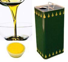 Lattina latta in metallo per olio contenitore 3 litri con tappo ermetico fusto