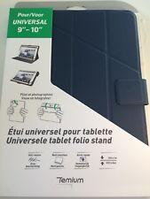 Etui A Rabat Universel Temium Bleu Pour Tablette 9''-10'' Neuve