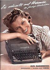 Original vintage poster print HERMES SWISS TYPEWRITER c.1933