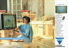 PUBLICITE ADVERTISING 016  1985  SABA  téléviseur vidéo hi-fi  (2p)