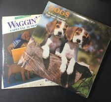2 Dog And Puppy Wall Calendars - 1989 1995 Both Sealed