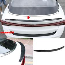 For Kia K5 2021 ABS Rear Door Tail Trunk Spoiler Wing Lip Carbon Fiber Look 1PCS