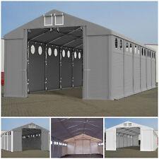 LAGERZELT mit Belichtung 4x6-8x12m INDUSTRIEZELT ganzjährig Lagerhalle 560g PVC